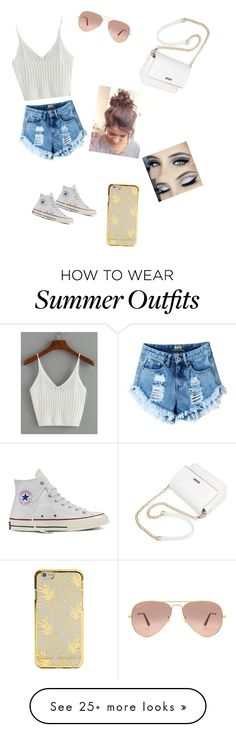 """""""Summer outfit"""" by alexalovebug on Polyvore featuring Converse and Ray-Ban"""