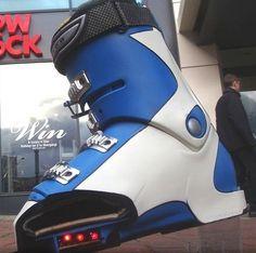 Heated ski boots