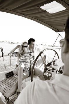 Dixie Dixon photo of male and female models on boat