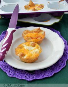 Tojásos- sajtos kosárkák