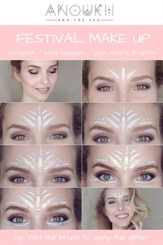 Festival Make Up Angel Eyes GLitter facepaint