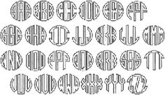 Circle Monogram Applique from SheSewCrazy