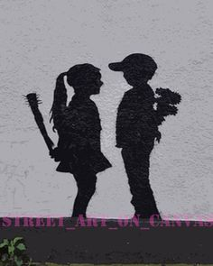 Our collection of popular Banksy stencils from the infamous street artist. Variety of different designs from Banksy. Beautiful graffiti stencil art made in USA! Arte Banksy, Banksy Graffiti, Bansky, Banksy Stencil, Stencil Art, Banksy Prints, Banksy Artwork, Illusion Kunst, Street Art Banksy