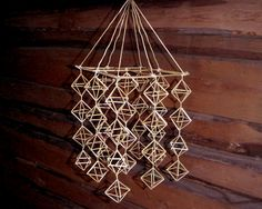Straw mobiles