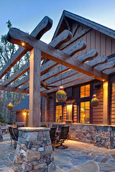 Outdoor Photos Log Cabin Design Ideas, Pictures, Remodel, and Decor - page 16