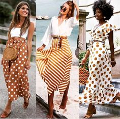 Ladies summer stylish outfits – Just Trendy Girls Cute Skirt Outfits, Classy Outfits, Cute Skirts, Stylish Outfits, Ladies Outfits, Look Fashion, Fashion Outfits, Spring Fashion Trends, Look Cool