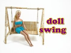 Miniature Porch Swing Tutorial (actually works!) | Dollhouse | How to Make 1:24 Scale DIY - YouTube