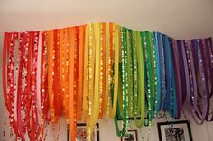 #Rainbow party decoration ideas