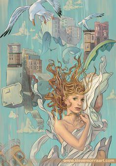 Buffy cover, season 9 issue 1 by ~StevenJamesMorris on deviantART