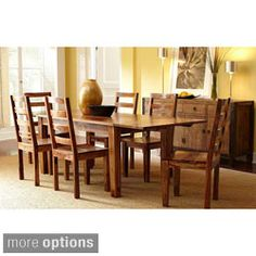 "Alicia Dining Table w/Ext 112"". Simple and elegant. And long enough to seat 8-10 people."