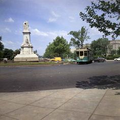 DC Transit Streetcar at Peace Monument.