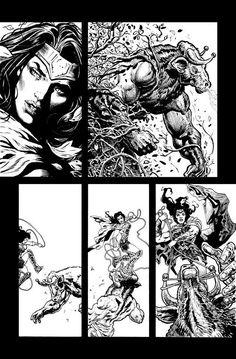 Wonder Woman pencils and inks by LiamSharp.deviantart.com on @DeviantArt