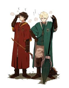 Drarry>>> Harry AND Draco as rivals. Draco Harry Potter, Harry James Potter, Harry Potter Anime, Arte Do Harry Potter, Harry Potter Ships, Harry Potter Universal, Harry Potter World, Harry Potter Memes, Potter Facts