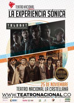 Burning Caravan y Telebit Musical, Caravan, Movie Posters, Gig Poster, Truck Camper, Film Poster, Motorhome, Camper Trailers, Film Posters
