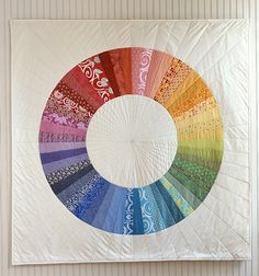 color wheel quilt by The Purl Bee