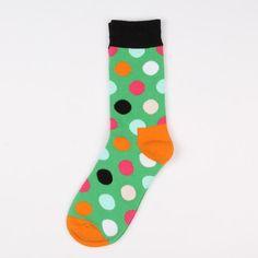 Square Pattern Digital Art Personality Fashion Casual Polyester Socks