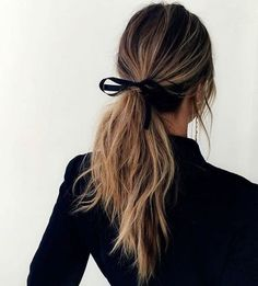 Take a simple ribbon to transform your lived-in hair look.