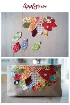 Applique Leaves Flower Cotton Fabric Ideas for Cloth Remains Sewing Idea Sewing Stitches Small Gifts for Christmas for Bazaar Scraping Fabric Free Sewing Patterns Sewing Hacks, Sewing Tutorials, Sewing Crafts, Sewing Tips, Sewing Ideas, Fabric Remnants, Fabric Scraps, Scrap Fabric, Fabric Bags