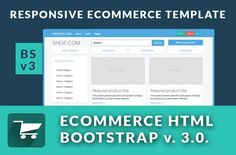 Ecommerce responsive BS3.0.v by Bootstraptor on @creativemarket