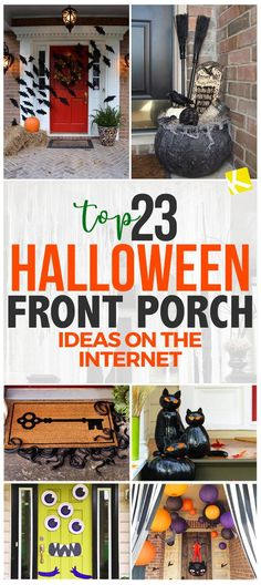 Welcome guests with cute autumnal decor or spook trick-or-treaters — these 23 Halloween front porch ideas will help you transform your entranceway.