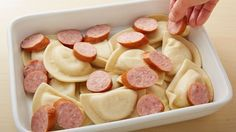This might be the ultimate comfort food casserole, made with frozen pierogies, kielbasa and a creamy cheese sauce.