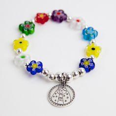 recordatorio primera comunion Beaded Earrings, Beaded Jewelry, Handmade Jewelry, Beaded Bracelets, Kids Jewelry, Jewelry Making, Kids Bracelets, Rosary Bracelet, Baby Keepsake