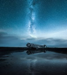 """The Abandoned World - <a href=""""http://www.mikkolagerstedt.com/blog/2016/5/8/the-abandoned-world-plane-wreck-in-iceland"""">The Abandoned World</a> Information about the photo on my blog."""