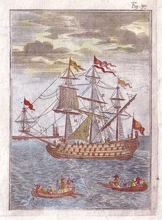 A galleon, circa 1683, as drawn by Alain Manesson Mallet.