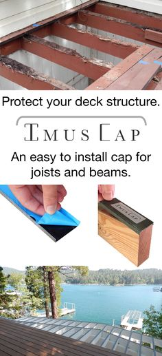 Imus Cap is a patented, easy to install joist and beam cap designed to protect your wooden deck structure from water damage and rot. Imus Cap is made of bonderized metal with a butyl rubber waterproof (Deck Step From House)