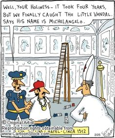 Famous Artist Cartoons and Comics
