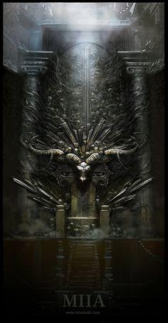 The throne, JUMI PARK on ArtStation at https://www.artstation.com/artwork/the-throne