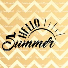 Hello Summer SVG, Summer SVG cutting file, Sun svg, Cricut, Dxf, PNG, Vinyl, Eps, Cut Files, Clip Art, Vector, Quote, Sayings by SVGEnthusiast on Etsy