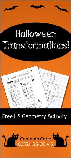 happy halloween dilations worksheet