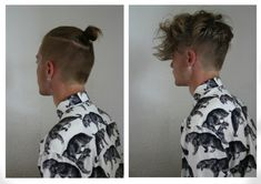 One Cut, 2 Styles: Top Knot Or Messy Bangs   Undercut Hairstyle: 45 Stylish Looks