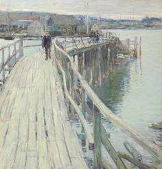 Dock Scene, Gloucester  (1894)  Frederick Childe Hassam