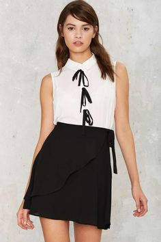 Forever Bow Collared Blouse...beautiful pleated back | Shop Clothes at Nasty Gal!