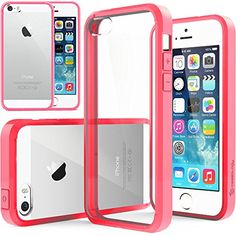iPhone 5S Case, Caseology [Clearback Bumper] Apple iPhone 5/5S Case [DIY Customization] [Hot Pink] Scratch-Resistant Clear Back Cover [Drop Protection] TPU Hybrid Fusion Best Apple iPhone 5/5S clear case (for Apple iPhone 5/5S Verizon, AT&T Sprint, T-mobile, Unlocked):Amazon:Cell Phones & Accessories