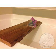 Rustic Bathtub Caddy-Wood Tub Tray -Rustic Bathtub Caddy-Tub Caddy... (€115) ❤ liked on Polyvore featuring home, bed & bath, bath, bath accessories, bath tub tray, wood trays, wood bathtub tray, wood bath accessories and wooden bathroom accessories