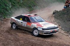 Toyota Celica, Liftback, GT4, T165, MkIV, 4 wheel drive, 2000cc Turbocharged, in full WRC spec, it made its first race appearance in 1988