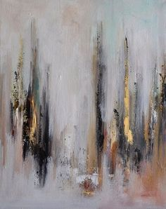 Original modern abstract painting, completed in 2014. Title Dark Reflections    Ready to hang    Oil on stretched canvas    Size of the painting -