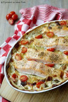 Experimente aus meiner Küche: Kartoffel-Lachs-Gratin