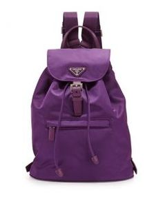 Prada - Sırt Çantası - Vela Medium Packpack prada,istanbul,ankara,izmir,cantacolor,mor sırt çantası,kadın sırt çantası,trend,pahalı çanta,prada