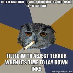 I always ruin it when it's time to ink it in! >;A;<