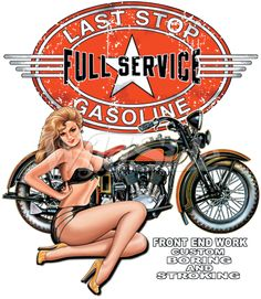FULL SERVICE GIRL W/MOTORCYCLE | The Wild Side