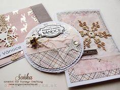 Nežné ženské Vánoce / Gentle feminine Christmas Vintage Crafts, Cardmaking, Scrapbooking, Create, Blog, Christmas, Crafting, Feminine, Cards