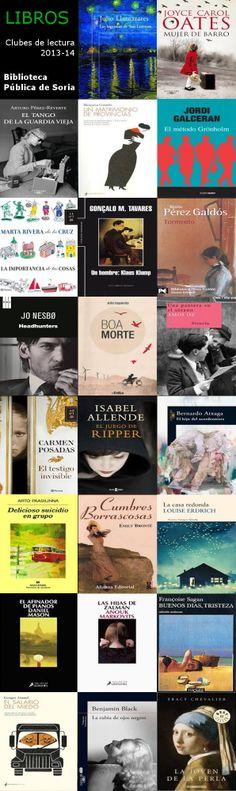 Todos los libros leídos por los clubes de lectura de Soria en 2013/14.