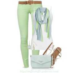 """""""Mint Blue & Lime"""" by steffiestaffie on Polyvore"""