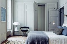 """The previous apartment belonging to interior designers Pierre Emmanuel Martin and Stéphane Garotin, (ofMaison Hand)in theFrenchcity of Lyon, was almost completely black. """"It was really nice in the winter and very cosy in the evening, but more difficult to live with in the summer,"""" Martin recalls. """"It was so dark that I'd have to take my trousers to the window just to see what colour they were.&rdquo..."""