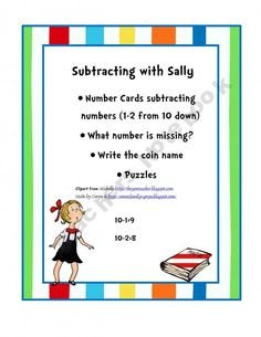 Subtracting with Sally Printable