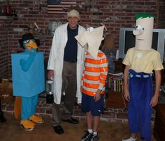 Phineas and Ferb costumes I've been trying to get my boys to do this for YEARS and they won't!